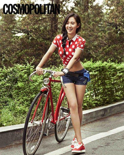 Yuri (SNSD) est sportive pour COSMOPOLITAN
