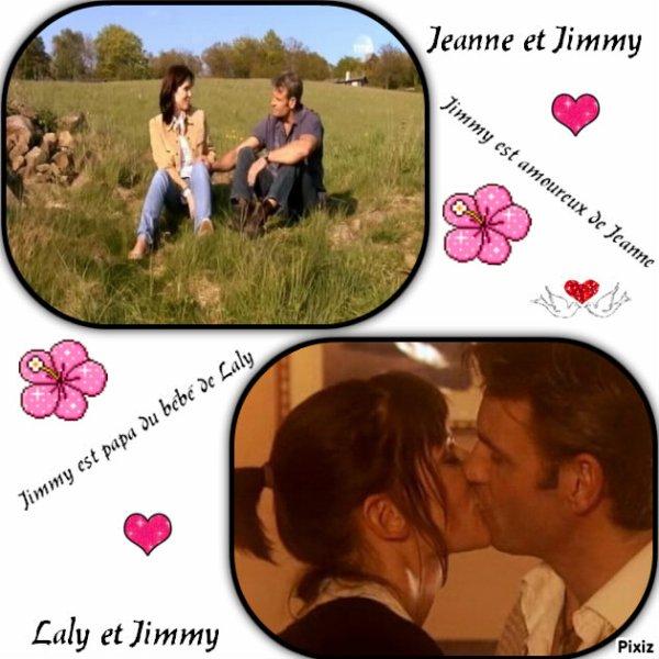 Jimmy avec Jeanne ou Laly