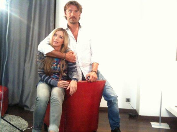 Hélène Rollès et Patrick Puydebat en séance photo