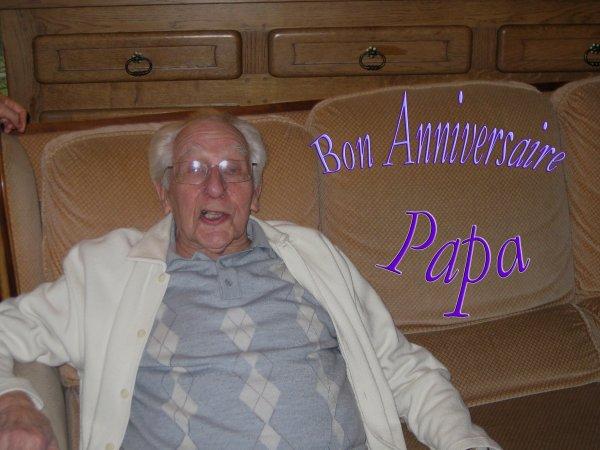 12 FEVRIER 1925 - 12 FEVRIER 2012 BON  ANNIVERSAIRE PAPA