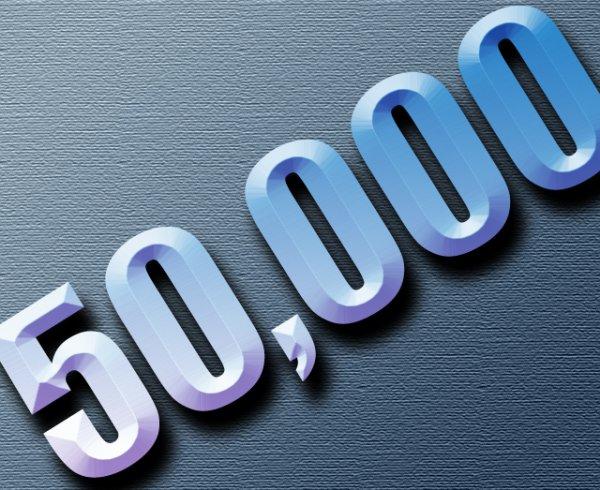 50 000 com's !