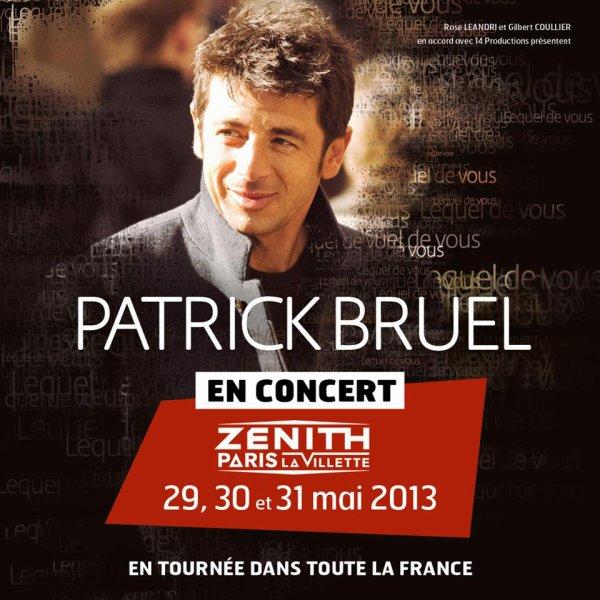 Concert Patrick Bruel aux Zénith de Limoges