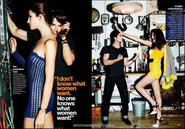 """Scans de Ian pour """"Glamour Magazine"""" d'avril. Ce photoshoot est superbe!"""