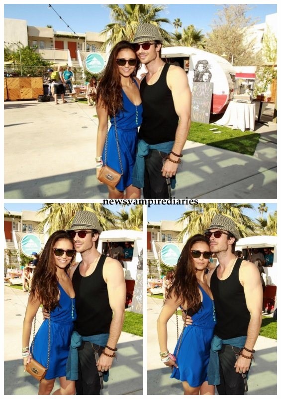 Le 14 avril, Nina et Ian étaient  à la Burton Pool Party, lors du Festival musical Coachella en Californie.