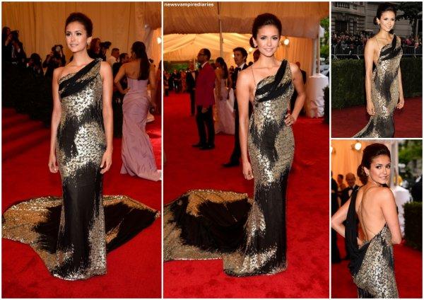 """Le 7 mai, Nina s'est rendue au """"Costume Institute Gala"""" au Musée Metropolitan, à New-York. Elle est sublime!"""