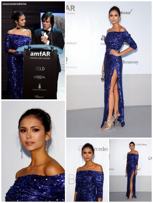 Le 24 mai, Nina Dobrev s'est rendue à l'évènement « Cinema Against Aids » lors du festival de Cannes. Elle est superbe, on lui accorde un TOP!