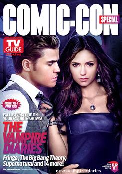 Nina, Ian et Paul sont en couverture de l'édition spéciale Comic Con 2012 du TV Guide Magazine