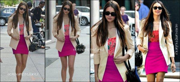 Le 2 août, Nina se promenait dans les rues de Los Angeles (Désolée pour la mauvaises qualité des photos)