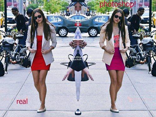 La webmiss du blog http://dobrevaccola.skyrock.com a remarqué que la sortie de Nina du 2 août (voir article précédent) était en fait un montage Photoshop (très bien fait d'ailleurs)!!