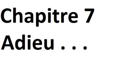 Chapitre 7:Adieu ...