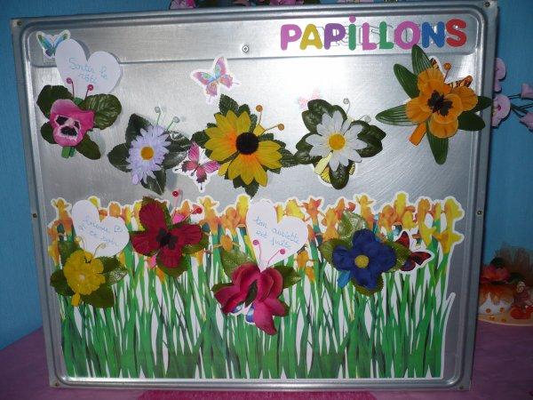 papillons de fleurs magnets
