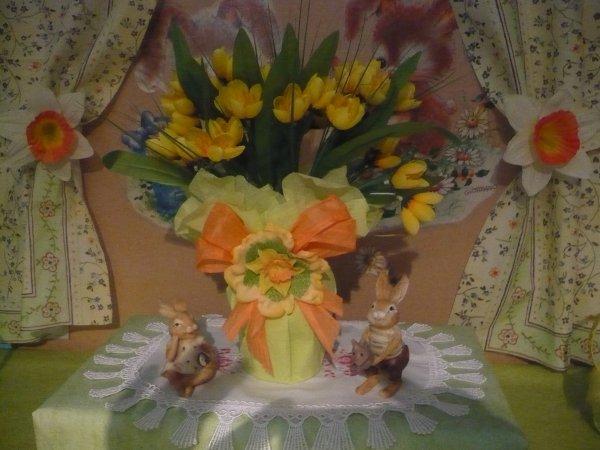 Un joli vase juste pour l' occasion