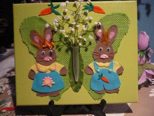 Un petit couple de lapins