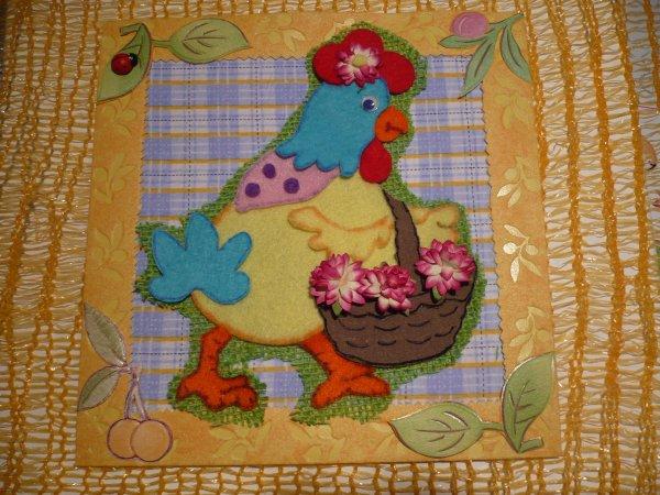 Top délire !!!!!!!! , une poule printanière