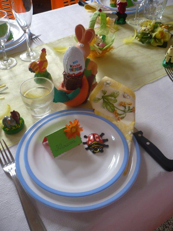 Ma deco de table pour Pâques