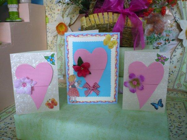 De jolies cartes à réaliser pour la fêtes des Mères .