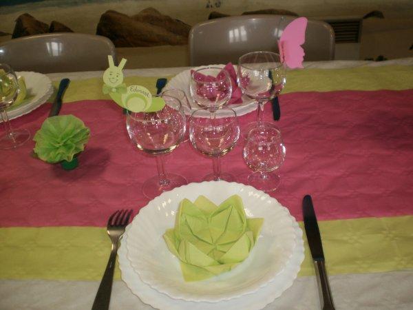 La décoration de table du Baptême !!!