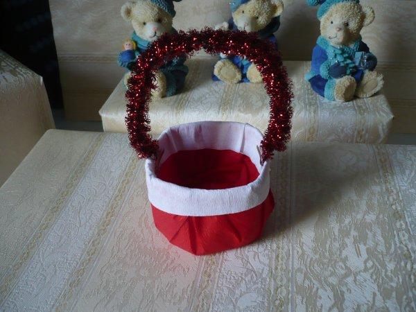 Suite de la marche à suivre du petit panier de Noël