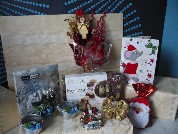 Voici mes cadeaux de cet échange de Noël pour agri08