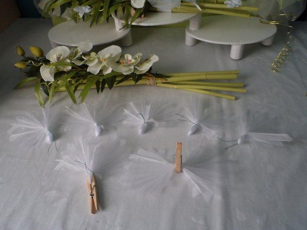 Le centre de table colombes ( en deux articles )