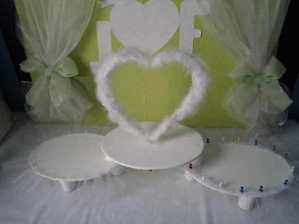 Le centre de table des mariés .