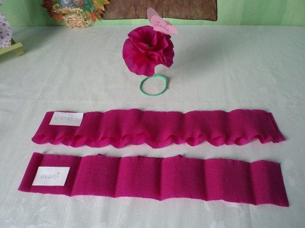 Des fleurs en papier crépon