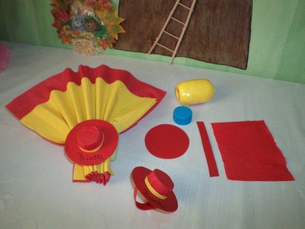 Décoration de table sur un théme de l' Espagne .