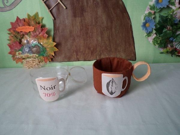 Un panier , une bonbonnière et une tasse à café  !!!!