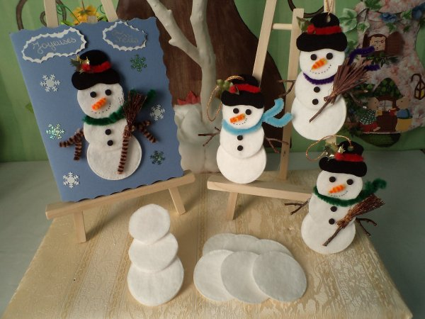Des bonhommes de neige tout doux ...