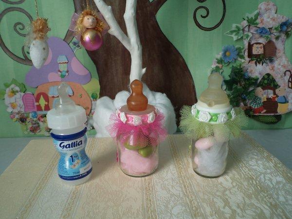 Des petits biberons transformés en bonhomme de neige !!!