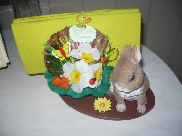 Des portes serviettes coquilles lapins
