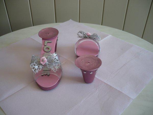 Les portes bougie en forme de souliers de princesse