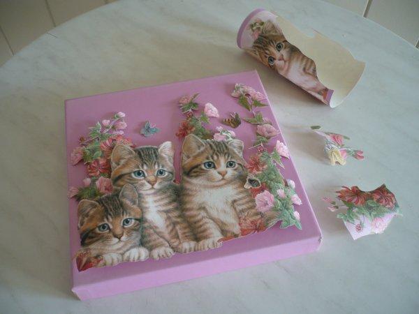 Customiser une boite en carton