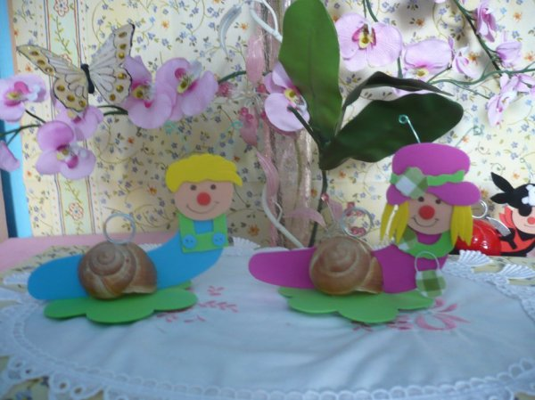 Jojo l'escargot et son amie Margotte