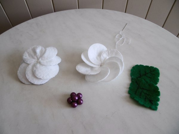 Une fleur en coton