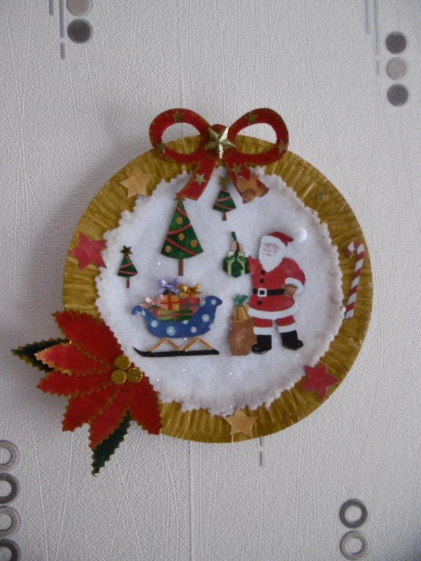 Une assiette décorative pour Noel,