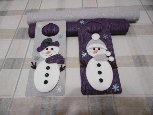 Une plaque de porte Bonhomme de neige
