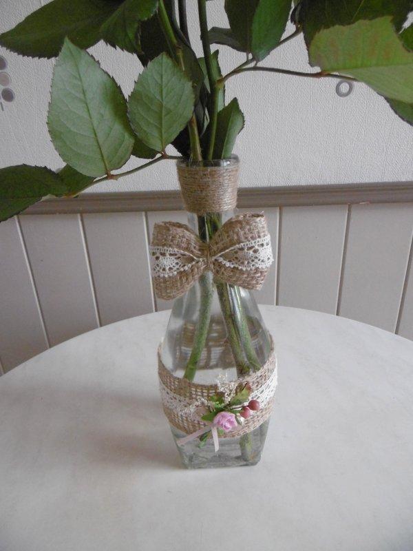 Faire un vase avec une bouteille de vin