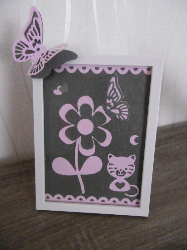 Un autre petit cadre gris et rose