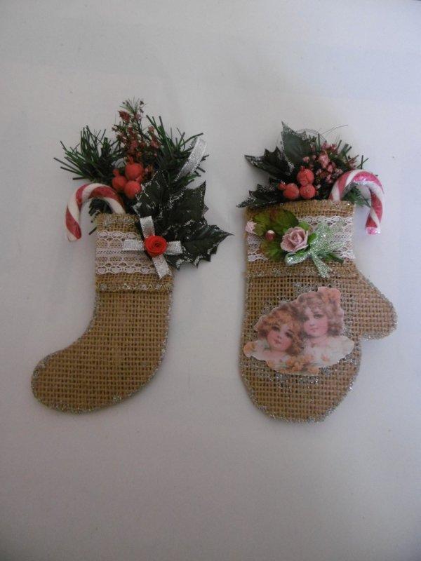 Moufles vintage et chaussettes de Noel