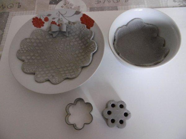 Création avec de la pâte à modeler durcissante à l'air .