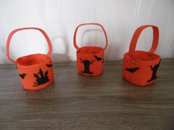 Des petits paniers pour Halloween