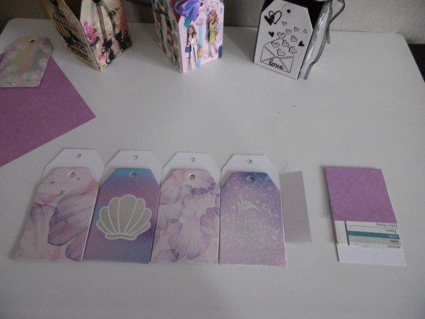Une boite réalisée avec des cartes tags .