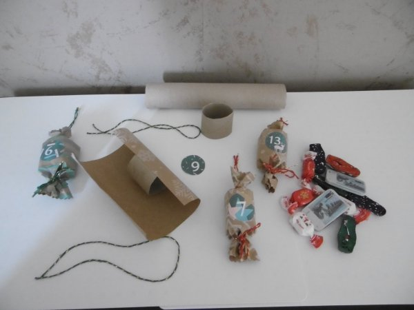 Un calendrier de l'avent recyclé