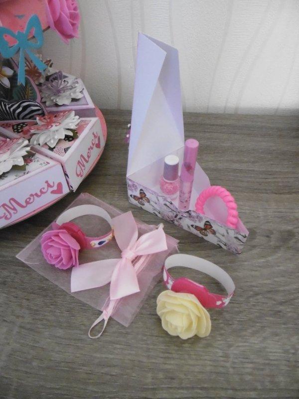 Présentoir décoré pour l'anniversaire de ma petite fille .