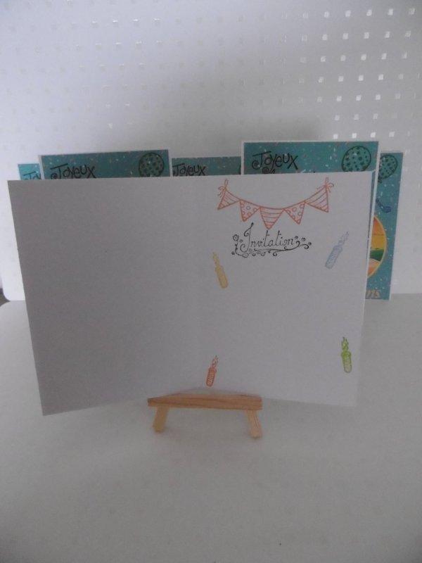 Cartes d'anniversaire et invitation