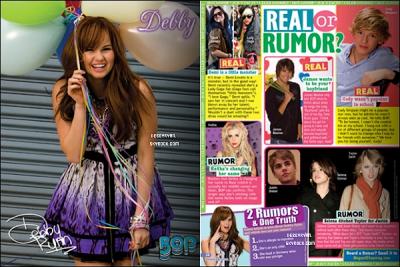 """debby fais la couverture de """" bop """" septembre 2011"""
