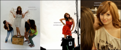 Photos behind the scenes avec Debby pour le magazine American Cheerleader.