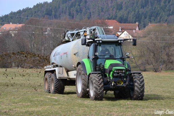 Épandage de Lisier 2012 --> --> Deutz-Fahr Agrotron K420 (  Neuf )