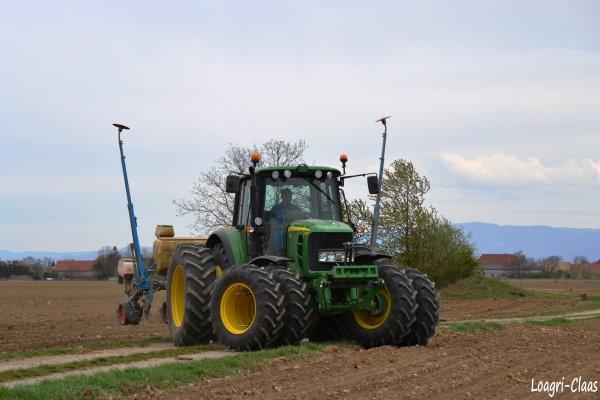 Semis de Maïs 2012 --> --> John Deere 6830 Prémium Jumelés Intégrale